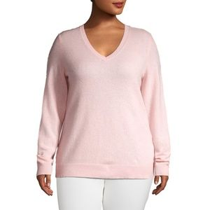 Lord & Taylor Plus V-Neck Merino Wool Sweater NWT